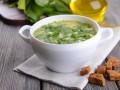 Французский суп со щавелем и рыбой