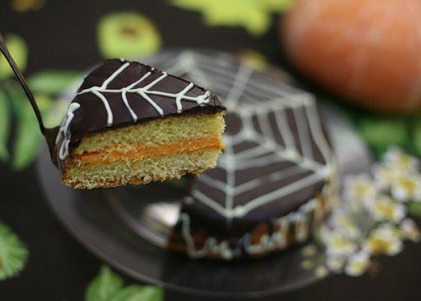 Рецепт                  Тыквенный пирог с шоколадом на Хэллоуин