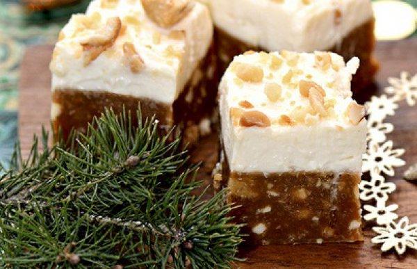 Рецепт                  Нуга с орехами и кремом из сливочного сыра