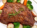 Запеченная говядина с горчицей
