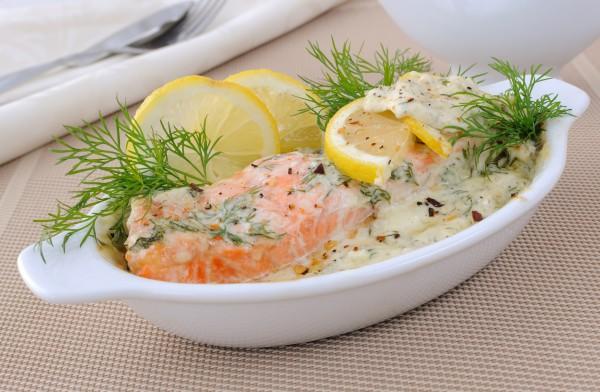 Рецепт                  Рецепты на Новый год: Лосось с лимонно-сливочным соусом