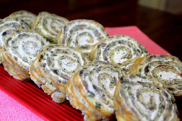 Рецепт                  Рулет с грибами: Рецепт приготовления