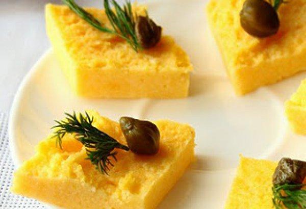 Рецепт                  Полента с зеленью и сыром