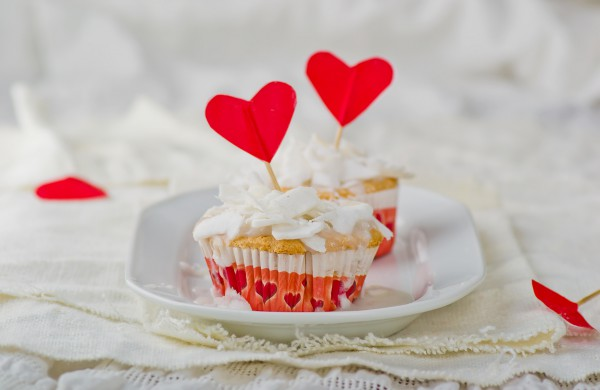 Рецепт                  Рецепты на День Валентина: Кокосовые кексы