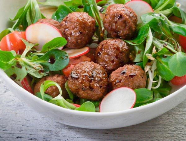 Рецепт                  Салат из редиса с фрикадельками