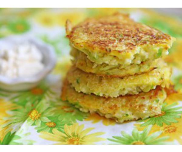 Рецепт                  Оладьи из кабачков и цветной капусты