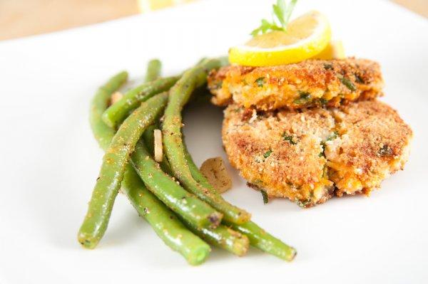 Рецепт                  Рыбные котлеты с зеленью и шпинатом