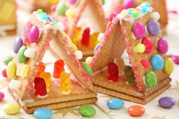 Домики из печенья на Рождество