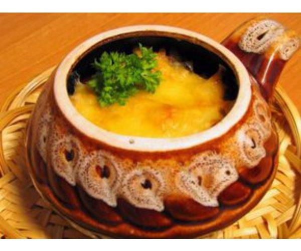 Рецепт                  Жюльен с языком и грибами