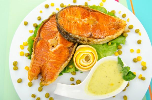 Рецепт                  Рыбные стейки на гриле