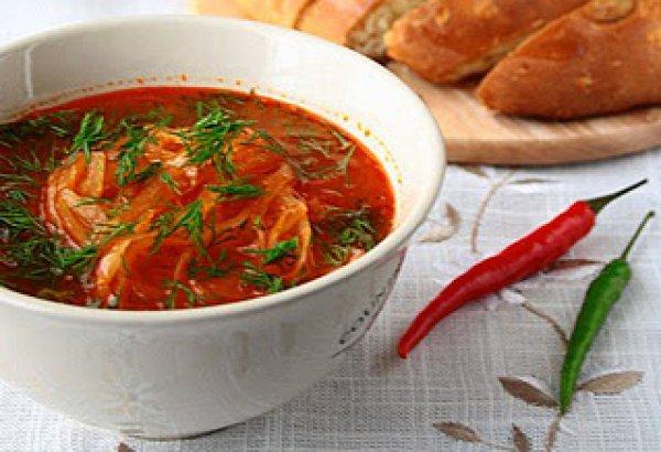 Рецепт                  Суп с квашеной капустой и копченостями