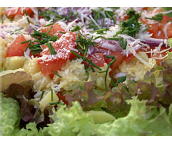Рецепт                  Картофельный салат с пармезаном
