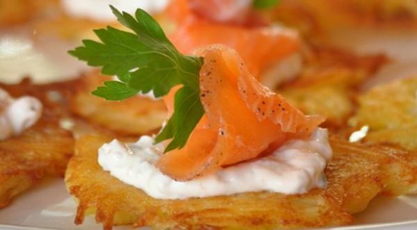 Рецепт                  Закуска из картофеля и семги