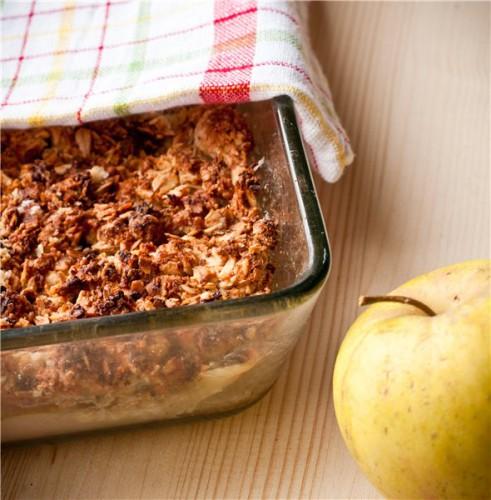 Рецепт                  Овсяная запеканка с яблоками