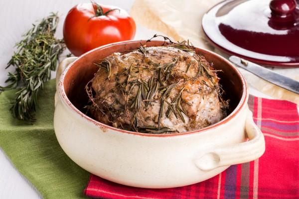 Рецепт                  Запеченная свинина с розмарином
