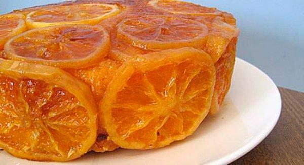 Домашний миндальный торт с апельсинами и лимонами
