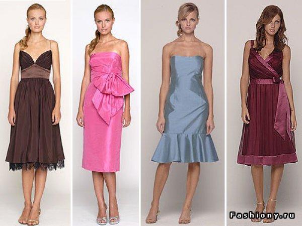 фасоны платьев туник на осень для полных
