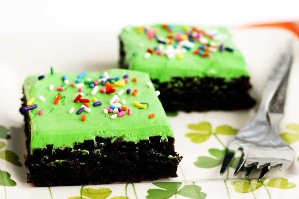 Рецепт                  Брауни с глазурью ко Дню святого Патрика