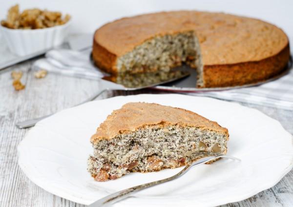 Рецепт                  Ореховый Спас 2015: Пирог с маком и грецкими орехами