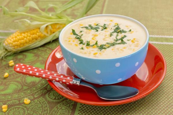 Рецепт                  Сливочный суп с кукурузой