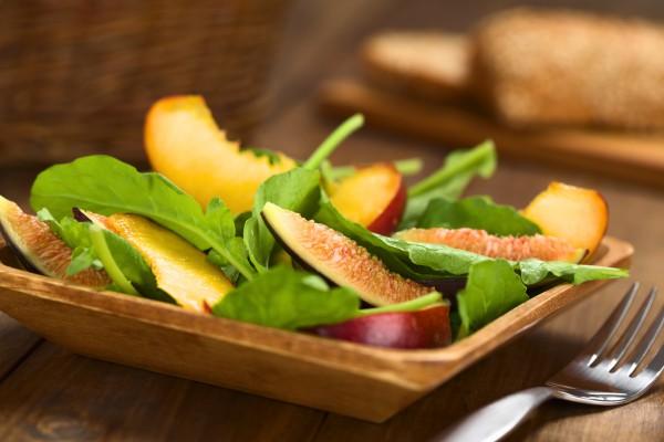 Рецепт                  Зеленый салат с инжиром