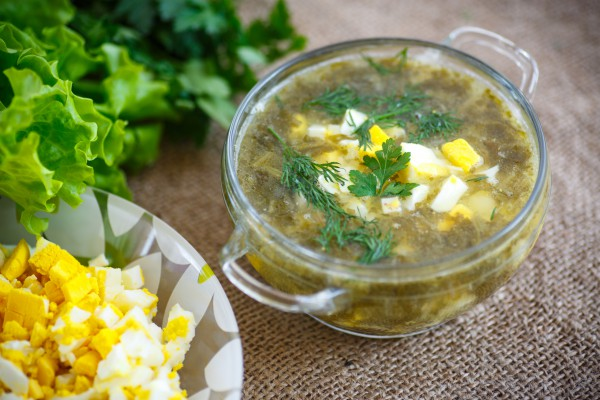 Рецепт                  Зеленый борщ со щавелем