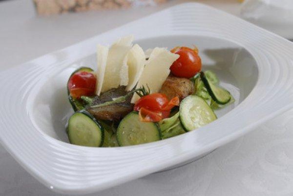 Рецепт                  Теплый рыбный салат по-марсельски