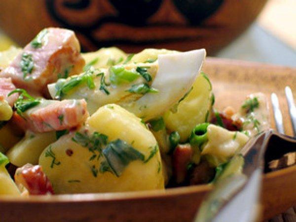 Рецепт                  Горячий картофельный салат