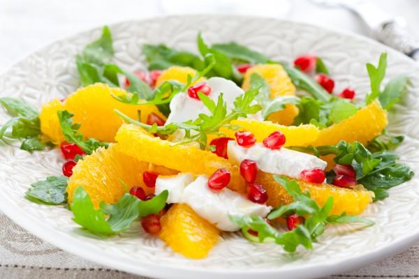 Рецепт                  Салат из апельсинов и сыра