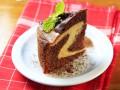 Шоколадный мраморный пирог