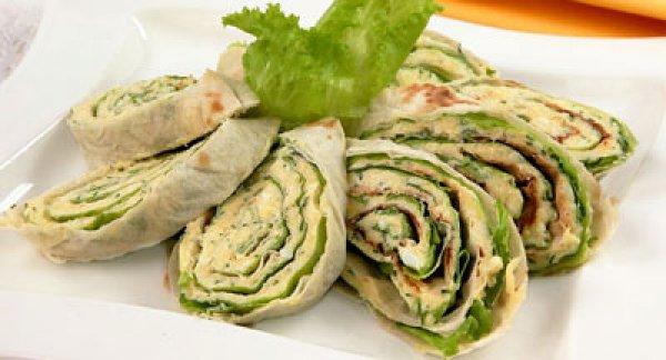 Рецепт                  Лаваш с брынзой и зеленью на гриле