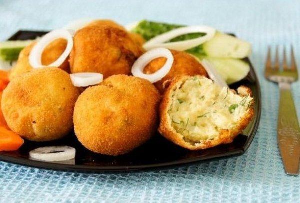 Рецепт                  Картофельные крокеты с зеленью