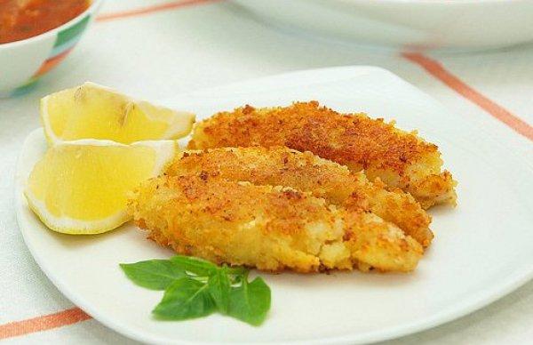 Рецепт                  Рыбные палочки с томатным соусом