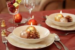 Свечи украсят новогодний стол