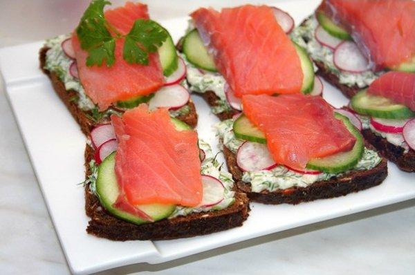 Рецепт                  Датские рыбные сэндвичи с огурцами