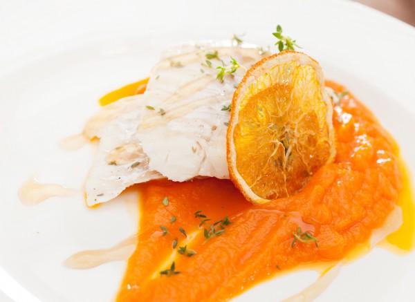 Рецепт                  Рыба с имбирем и апельсинами
