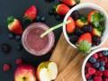 Великий пост 2016: ягодный смузи с яблоками