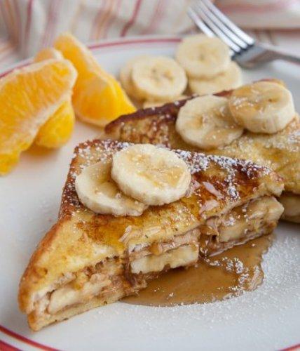 Рецепт                  Вкусный завтрак: Гренки с бананом и корицей