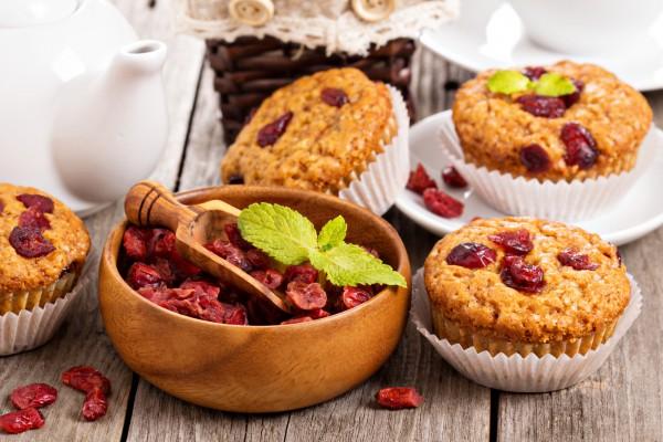 Рецепт                  Постные кексы с клюквой