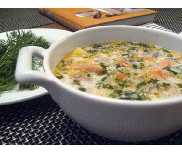 Рецепт                  Финский рыбный суп с копченой семгой
