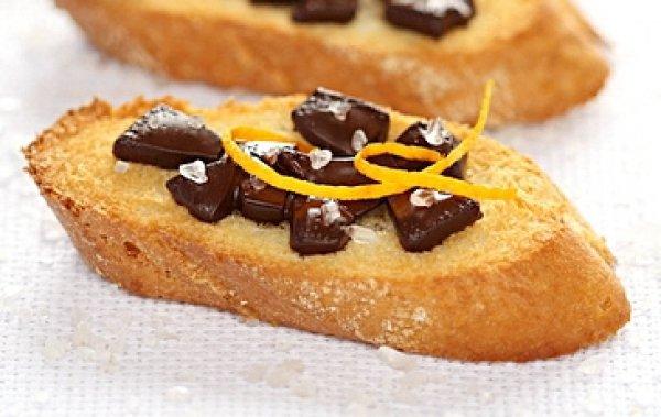Рецепт                  Брускетта с шоколадом