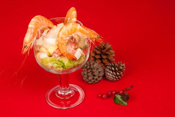 Рецепт                  Новогодние рецепты: Салат-коктейль из крабовых палочек