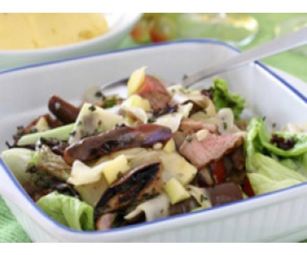Рецепт                  Закуска с мясом и грибами