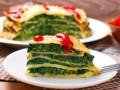 Масленица 2016: Блинный пирог со шпинатом