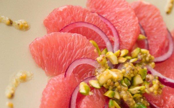 Рецепт                  Постный салат из грейпфрута