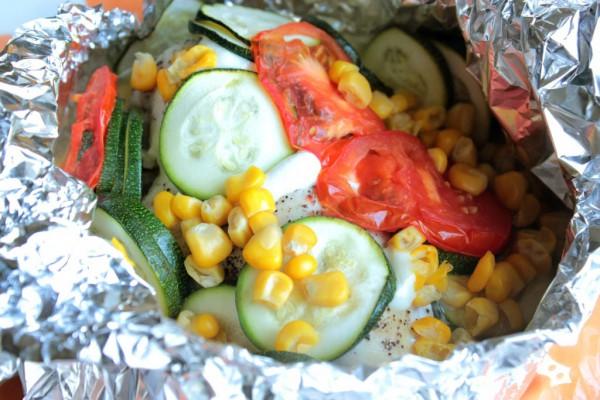 Рецепт                  Запеченное куриное филе с овощами