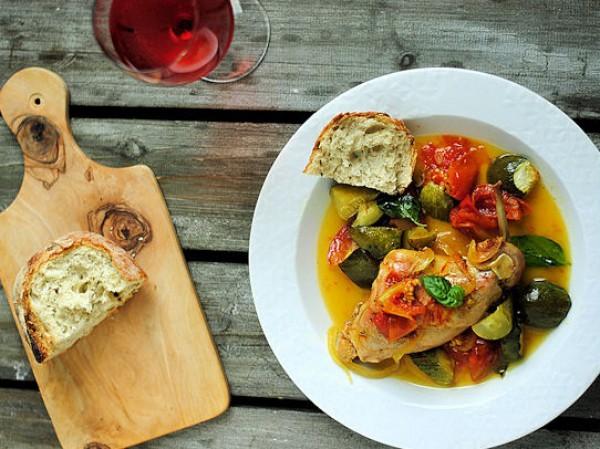 Рецепт                  Запеченный кролик с базиликом