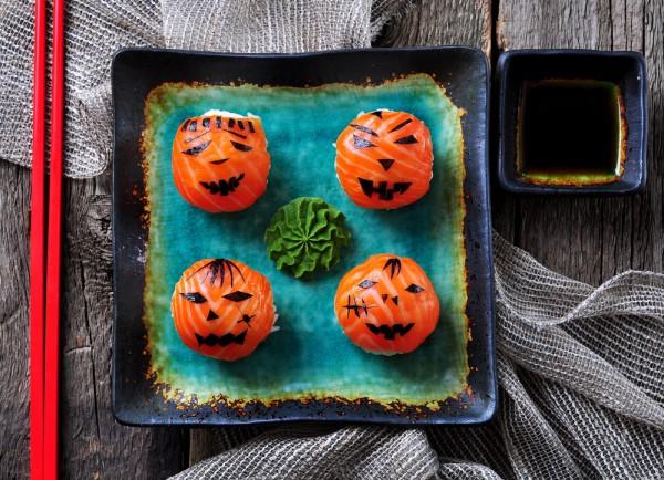 Рецепт                  Рецепты на Хэллоуин: Суши Джек-фонарь