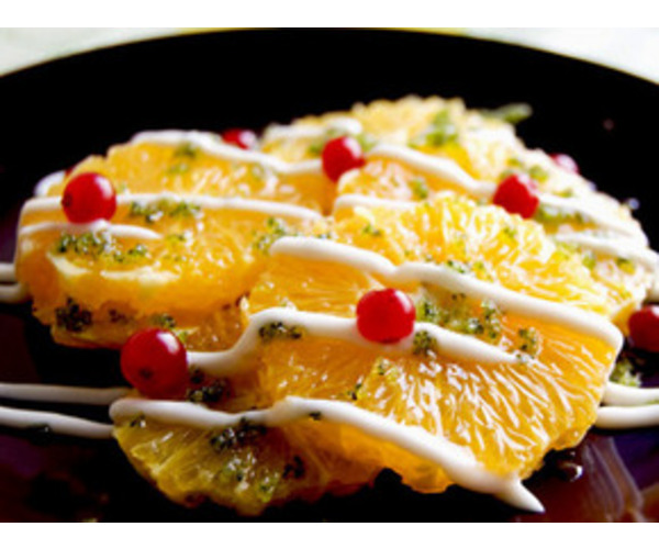 Рецепт                  Апельсины с зеленым сахаром