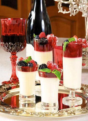 Рецепт                  Рецепты на День Валентина: Кофейная панна котта с ягодами